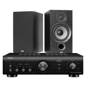 Denon PMA-600NE Integrated Amplifier with Elac Debut B6.2 Bookshelf Speakers