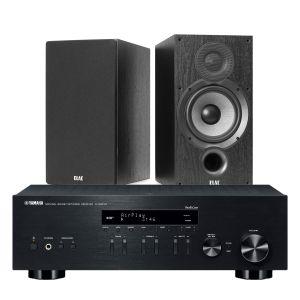 Yamaha R-N803D Amplifier with Elac Debut B6.2 Bookshelf Speakers