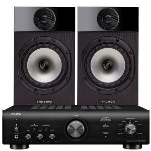 Denon PMA-600NE Integrated Amplifier with Fyne Audio F300 Bookshelf Speakers