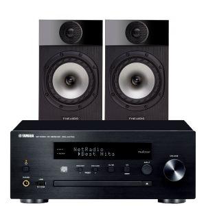 Yamaha CRX-N470D with Fyne Audio F300 Bookshelf Speakers