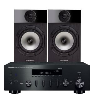 Yamaha R-N602 with Fyne Audio F300 Bookshelf Speakers