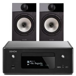 Denon CEOL N11DAB  Hi-Fi-Network CD Receiver with Fyne Audio F301 Bookshelf Speakers
