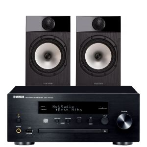 Yamaha CRX-N470D with Fyne Audio F301 Bookshelf Speakers