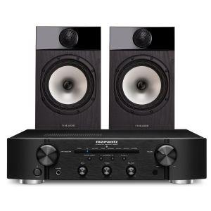 Marantz PM6007 Integrated Amplifier with Fyne Audio F301 Bookshelf Speakers