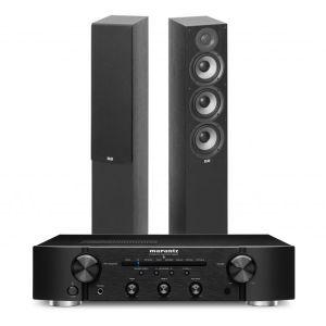 Marantz PM6007 Integrated Amplifier with Elac Debut F5.2 Floorstanding Speakers