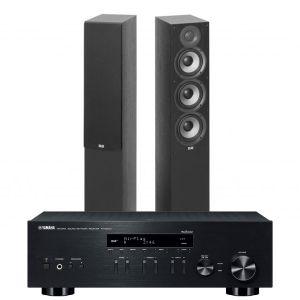 Yamaha R-N803D Amplifier with Elac Debut F5.2 Floorstanding Speakers