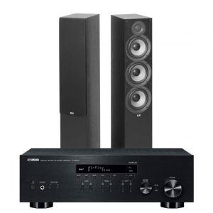 Yamaha R-N803D Amplifier with Elac Debut F6.2 Floorstanding Speakers