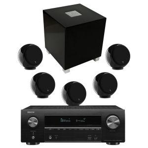 Denon AVR-X1600H AV Receiver with Gallo Acoustics Micro AV Pack