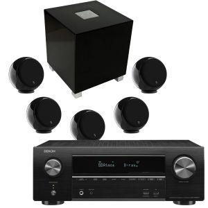 Denon AVR-X1600H DAB AV Receiver with Gallo Acoustics Micro AV Pack