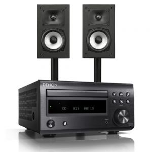 Denon D-M41DAB Hi-Fi System with Polk Monitor XT15 Compact Bookshelf Loudspeakers