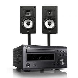 Denon D-M41DAB Hi-Fi System with Polk Monitor XT20 Bookshelf Loudspeakers