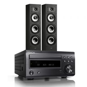 Denon D-M41DAB Hi-Fi System with Polk Monitor XT60 Floor-Standing Loudspeakers