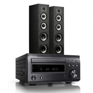 Denon D-M41DAB Hi-Fi System with Polk Monitor XT70 Floor-Standing Loudspeakers