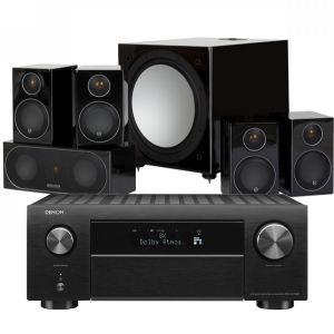 Denon AVC-X4700H AV Amplifier with Monitor Audio Radius R90HT12 Speaker System