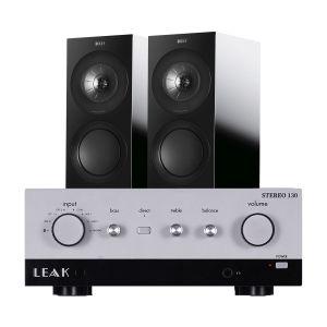 LEAK Stereo 130 Integrated Amplifier with KEF R3 Bookshelf Speakers