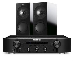 Marantz PM6007 Integrated Amplifier with KEF R3 Bookshelf Speakers