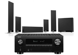 Denon AVC-X3700H Amplifier with KEF T205 System 5.1 Speaker Pack