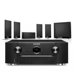 Marantz SR6015 9.2ch 8K AV Amplifier with KEF T105 System 5.1 Speaker Pack