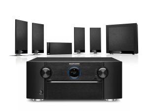 Marantz SR7015 9.2ch 8K AV Amplifier with KEF T105 System 5.1 Speaker Pack