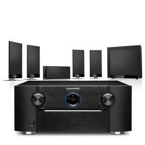 Marantz SR8015 11.2ch 8K AV Amplifier with KEF T105 System 5.1 Speaker Pack