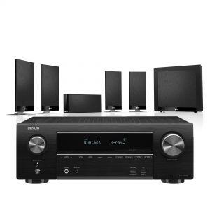 Denon AVR-X1600H DAB AV Receiver with KEF T105 System 5.1 Speaker Pack