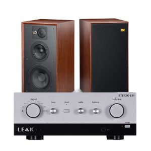 LEAK Stereo 130 Integrated Amplifier with Wharfedale Linton Heritage Standmount Speakers