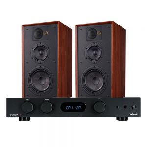 Audiolab 6000A Amplifier with Wharfedale Linton Heritage Standmount Speakers