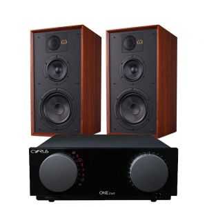 Cyrus One Cast Amplifier with Wharfedale Linton Heritage Standmount Speakers