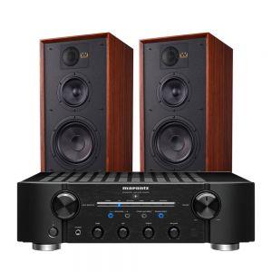 Marantz PM8006 HiFi Amplifier with Wharfedale Linton Heritage Standmount Speakers