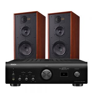 Denon PMA-1600NE Integrated Amplifier with Wharfedale Linton Heritage Standmount Speakers