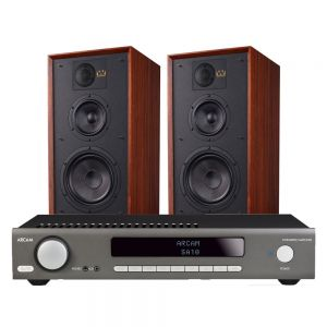 Arcam SA10 Integrated Amplifier with Wharfedale Linton Heritage Standmount Speakers