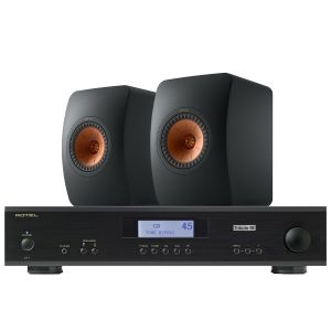Rotel A11 Tribute Integrated Amplifier with KEF LS50 Meta Standmount Loudspeakers