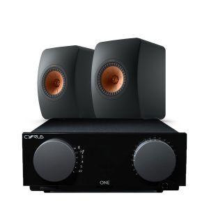 Cyrus One Integrated Amplifier with KEF LS50 Meta Loudspeakers