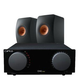 Cyrus One Cast Amplifier with KEF LS50 Meta Standmount Loudspeakers