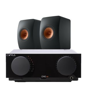 Cyrus One HD Integrated Amplifier with KEF LS50 Meta Loudspeakers