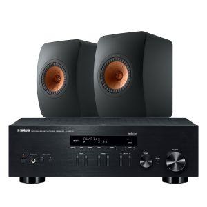 Yamaha R-N803D Amplifier with KEF LS50 Meta Standmount Loudspeakers