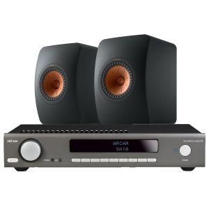Arcam SA10 Integrated Amplifier with KEF LS50 Meta Standmount Loudspeakers