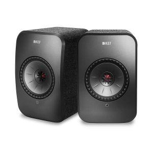 Open Box - KEF LSX Wireless Bookshelf Speakers - Black
