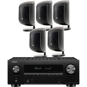Denon AVC-X3700H Amplifier with Bowers & Wilkins M-1 Satellite 5.0 AV Speaker Pack