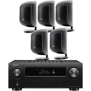 Denon AVC-X4700H AV Amplifier with Bowers & Wilkins M-1 Satellite 5.0 AV Speaker Pack