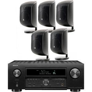 Denon AVC-X6700H 11.2 AV Amplifier with Bowers & Wilkins M-1 Satellite 5.0 AV Speaker Pack