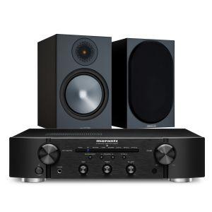 Marantz PM6007 Integrated Amplifier with Monitor Audio Bronze 100 Speakers (6th Gen)