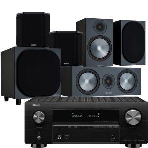 Denon AVC-X3700H Amplifier with Monitor Audio Bronze 100 AV Speaker Pack