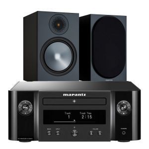 Marantz Melody X. M-CR612 Music System with Monitor Audio Bronze 100 Speakers (6th Gen)