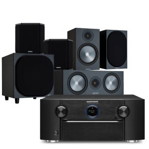 Marantz SR7015 9.2ch 8K AV Amplifier with Monitor Audio Bronze 100 AV Speaker Pack