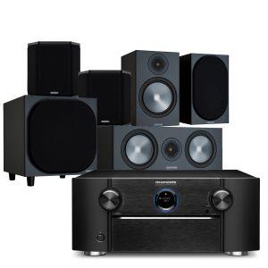 Marantz SR8015 11.2ch 8K AV Amplifier with Monitor Audio Bronze 100 AV Speaker Pack