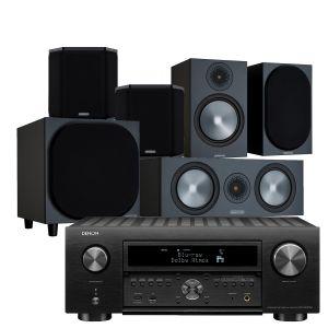 Denon AVC-X6700H 11.2 AV Amplifier with Monitor Audio Bronze 100 AV Speaker Pack
