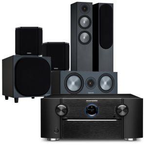 Marantz SR8015 11.2ch 8K AV Amplifier with Monitor Audio Bronze 200 AV Speaker Pack