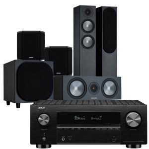 Denon AVC-X3700H Amplifier with Monitor Audio Bronze 200 AV Speaker Pack