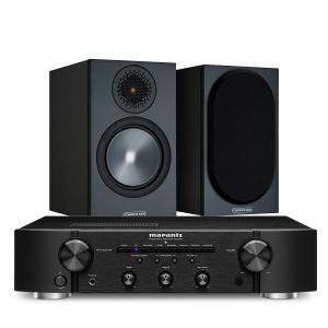 Marantz PM6007 Integrated Amplifier with Monitor Audio Bronze 50 Speakers (6th Gen)